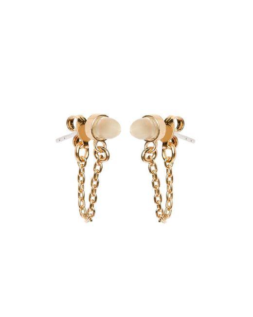 Bing Bang | Metallic Gemstone Bullet Continuous Earrings | Lyst