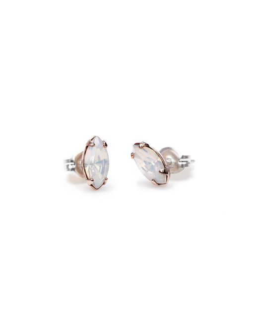 Bing Bang - Pink Tiny Marquis Studs - Lyst