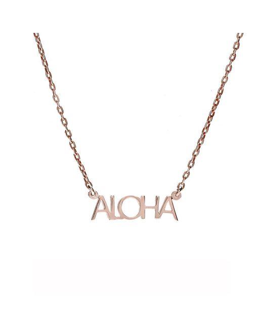 Bing Bang | Metallic Aloha Necklace | Lyst