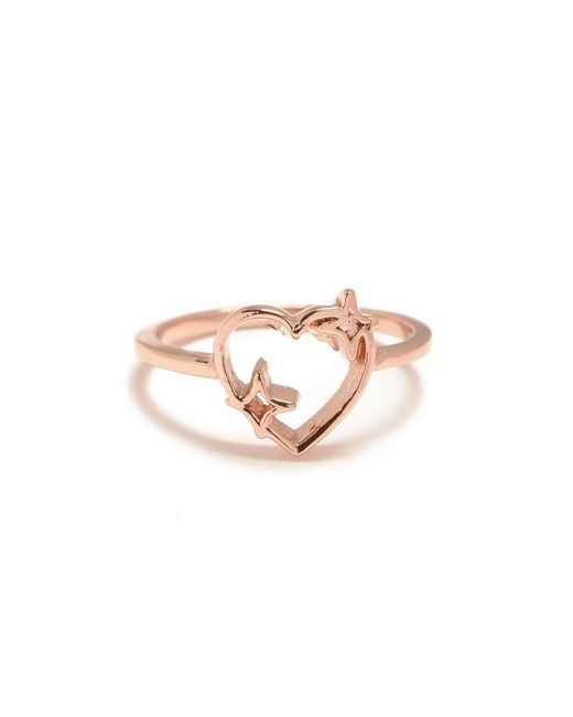 Bing Bang - Pink Sparkle Heart Ring - Lyst