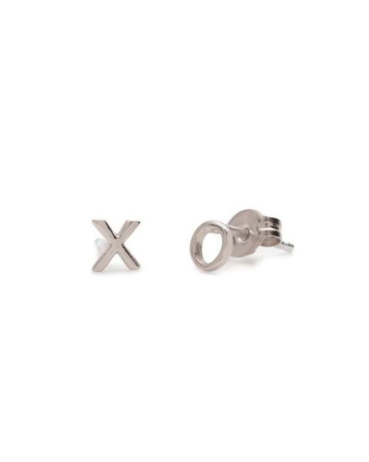 Bing Bang - Metallic Tiny 'xo' Studs - Lyst