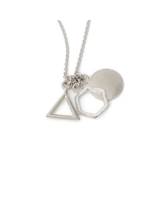 Bing Bang | Metallic Geo Charm Pendant Necklace | Lyst