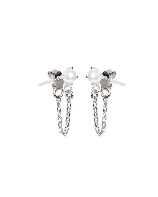 Bing Bang | Metallic Pearl Continuous Earrings | Lyst