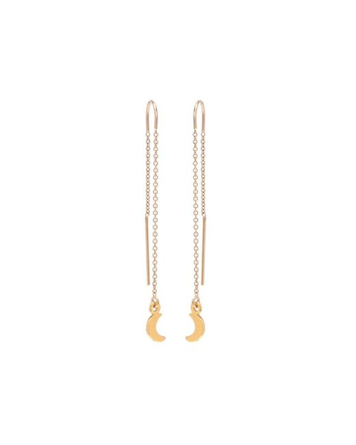 Bing Bang | Metallic Little Moon Threader Earrings | Lyst