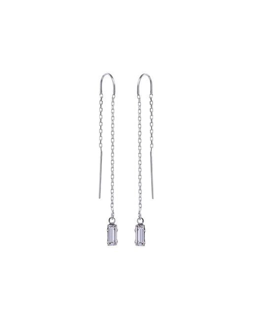 Bing Bang - Metallic Baguette Threader Earrings - Lyst