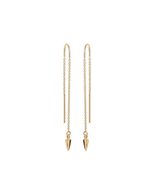 Bing Bang | Metallic Pearl Pendulum Chain Earrings | Lyst
