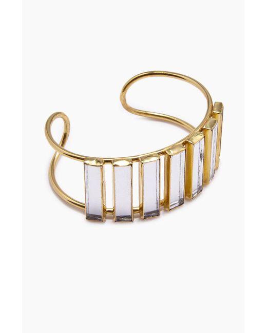Lena Bernard - Metallic Damaris Mirrored Gold Brass Cuff Bracelet - Lyst