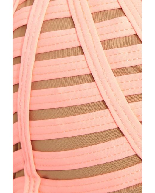 Beach Bunny Hard Summer Cheeky Tie Side Bikini Bottom - Light Coral Pink - Lyst-5971