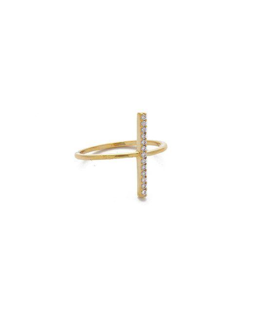 JEWEL CULT - Metallic Pave Crystal Bar Ring - Lyst