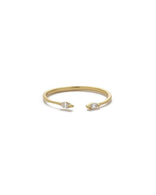 JEWEL CULT - Metallic Tiny Crystal Marquis Ring - Lyst