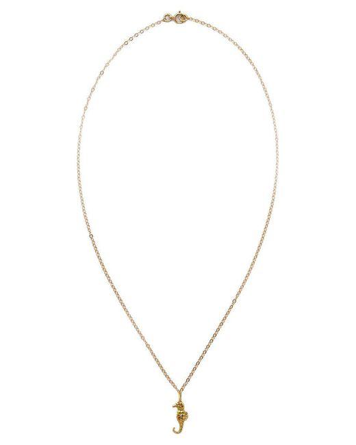 TATIANA KATZOFF - Metallic Seahorse Necklace - Lyst