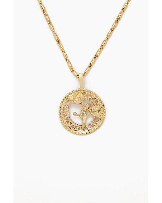 Vanessa Mooney - Metallic The Gold Rossa Charm Necklace - Gold - Lyst