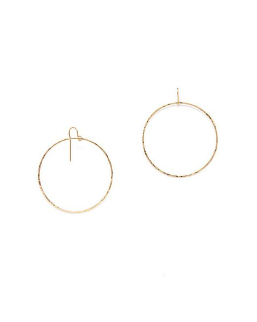 SIMONE JEANETTE - Metallic Hoop Earrings - Lyst