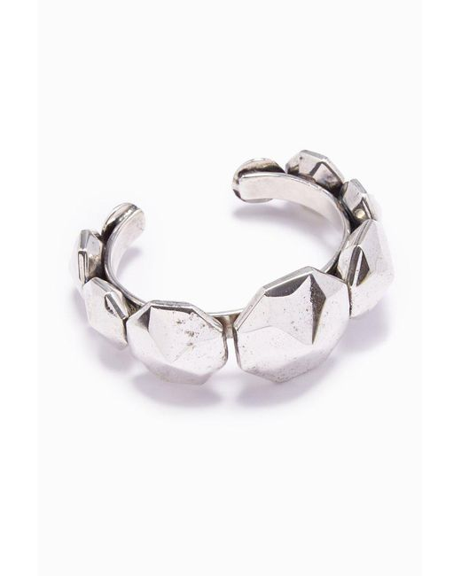 Lena Bernard - Metallic Diandra Studded Silver Cuff Bracelet - Lyst