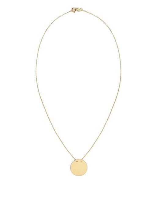 Talia Naomi | Metallic Golden Eclipse Necklace | Lyst