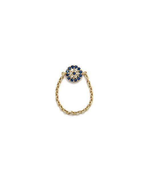 Talia Naomi | Metallic See No Evil Chain Ring | Lyst