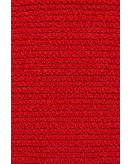 516f5afc41 ... Montce Swim - Uno Added Coverage Ruffle Bikini Bottom - Crimson Red -  Lyst
