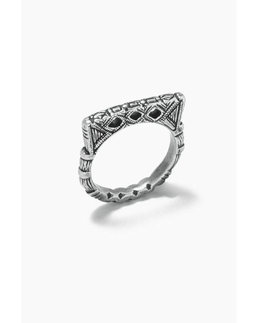 "Vanessa Mooney - Metallic Fight The Power ""d"" Ring - Silver - Lyst"