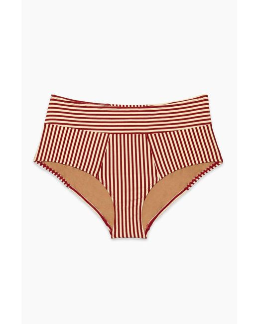 Marlies Dekkers - Holi Vintage High Waist Bikini Bottom - Red Ecru - Lyst