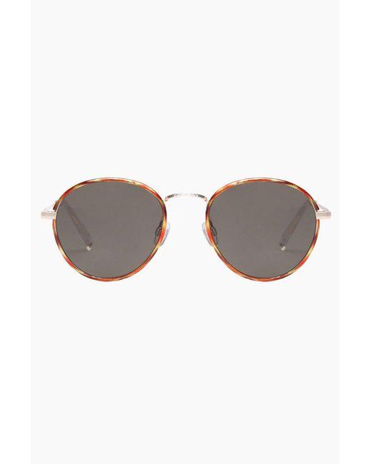 Le Specs - Brown Zephyr Deux Sunglasses - Vintage Tort/khaki - Lyst