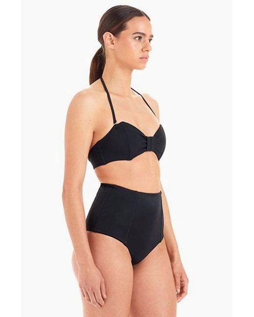 cd23654c207 ... The Ones Who - Heather High Waist Bikini Bottom - Black - Lyst ...