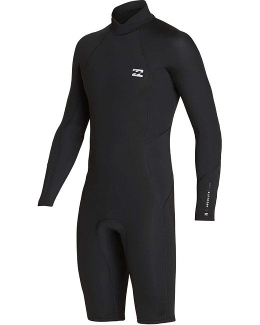 Billabong Black 2mm Absolute Back Zip Long Sleeve Springsuit for men