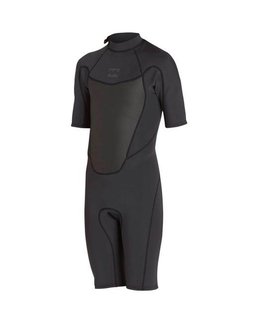 Billabong - Black 2mm Absolute Comp Short Sleeve Springsuit - Lyst