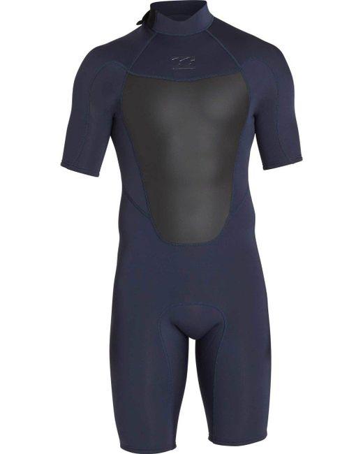 Billabong - Blue 2mm Absolute Comp Short Sleeve Springsuit for Men - Lyst