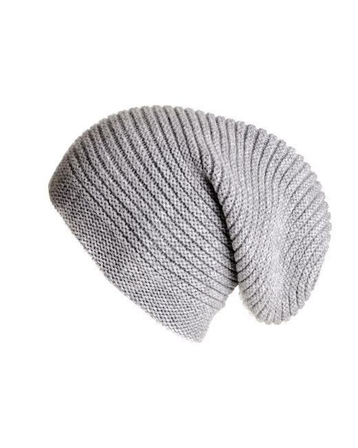 Black.co.uk - Gray Light Grey Cashmere Slouch Beanie Hat for Men - Lyst