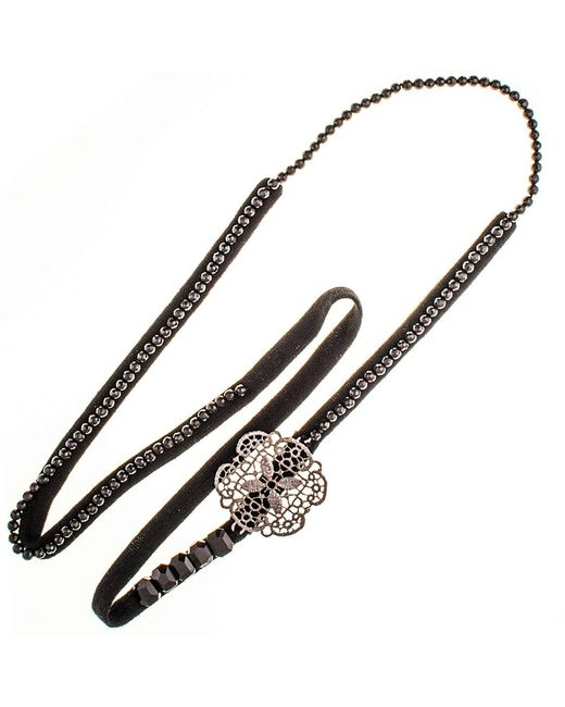 Black.co.uk   Multicolor Rana Bronze, Agate And Cashmere Necklace   Lyst