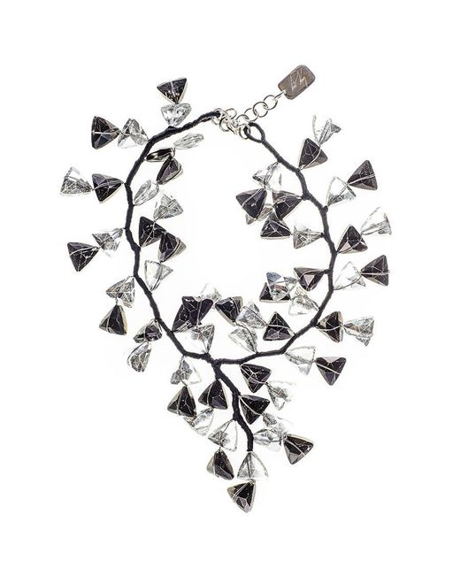 Black.co.uk | Multicolor Black And White Smokey Quartz Crystal Waterfall Necklace | Lyst