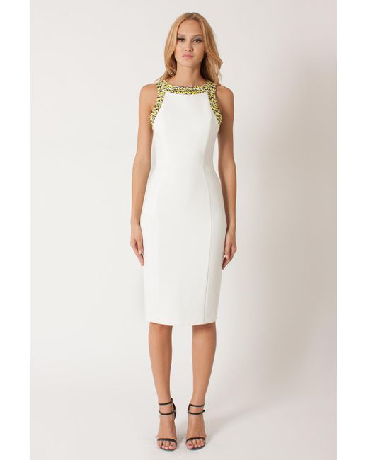 Black Halo | White Geraldine Cb Sheath | Lyst