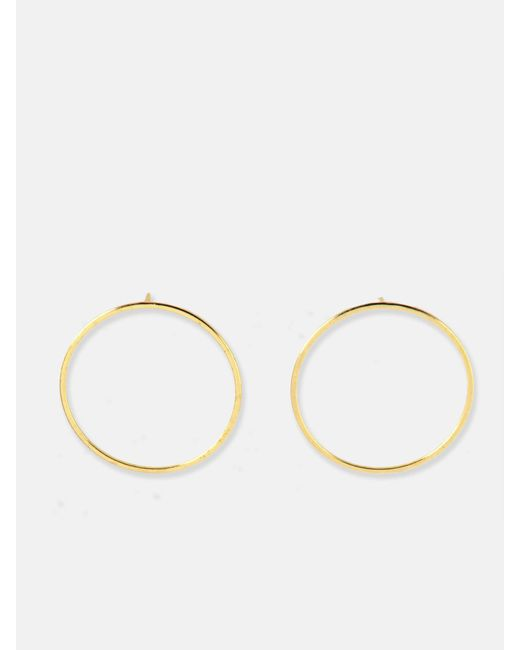 we11made - Metallic Big Circle Earrings - Lyst