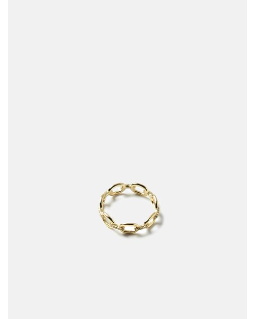 we11made - Metallic Go Chain Stone Ring - Lyst