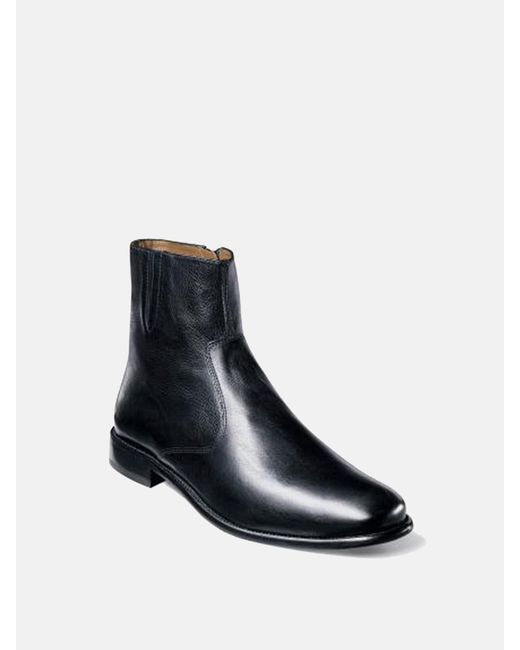 Florsheim - Black Hugo Plain Toe Zip Boot for Men - Lyst