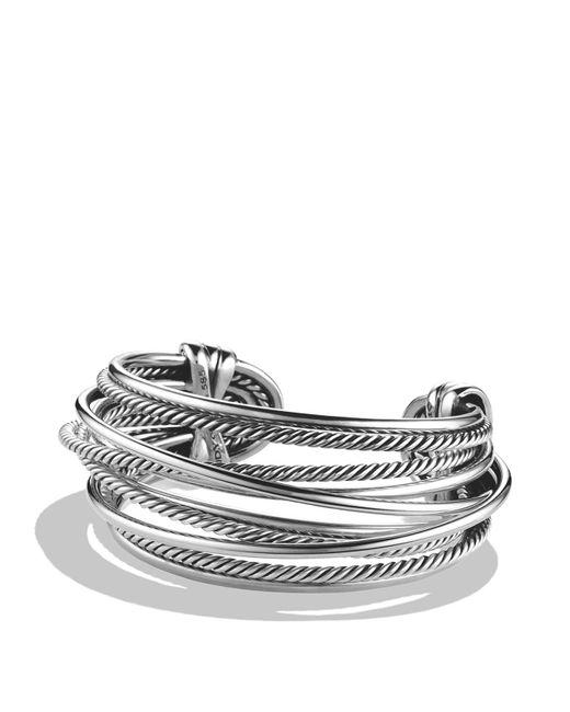 David Yurman | Metallic Crossover Wide Cuff | Lyst