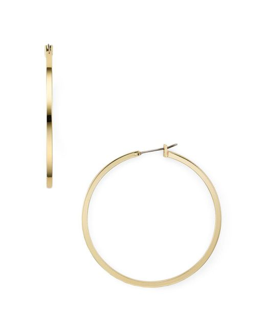 Aqua - Metallic Hoop Earrings - Lyst