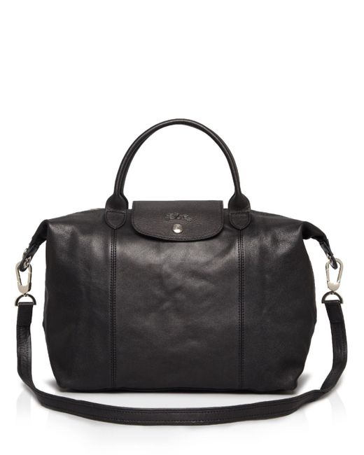 Longchamp - Blue Le Pliage Medium Leather Satchel - Lyst