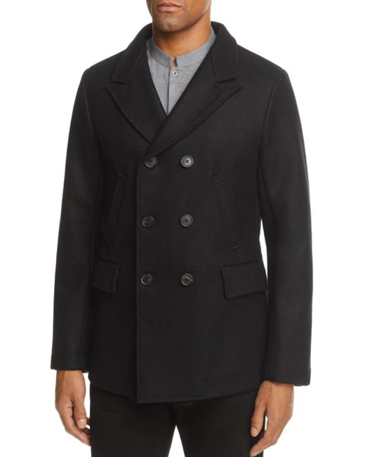 Billy Reid - Black Bond Pea Coat for Men - Lyst