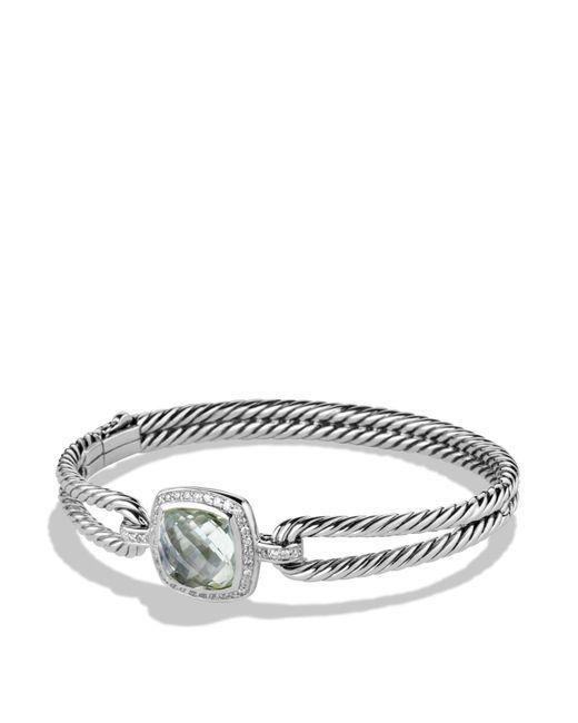 David Yurman - Metallic Albion Bracelet With Prasiolite And Diamonds - Lyst