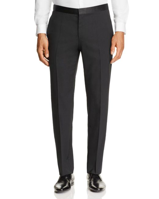 HUGO - Black C-stuards Regular Fit Tuxedo Pants for Men - Lyst