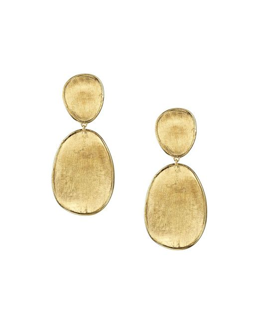Marco Bicego | Metallic 18k Yellow Gold Lunaria Two Tiered Drop Earrings | Lyst