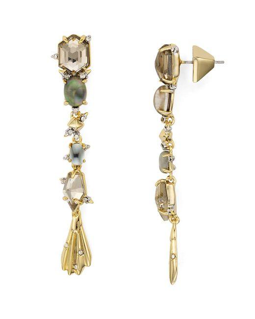 Alexis Bittar   Metallic Geometric Crystal Drop Earrings   Lyst