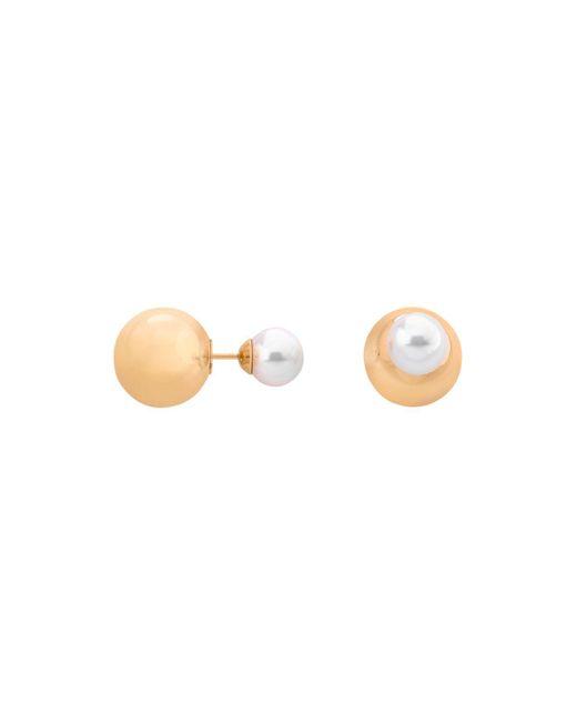 Majorica - Metallic Reversible Simulated Pearl Stud Earrings - Lyst