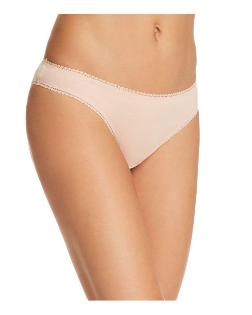 On Gossamer - Natural Cabana Stretch Cotton Bikini - Lyst
