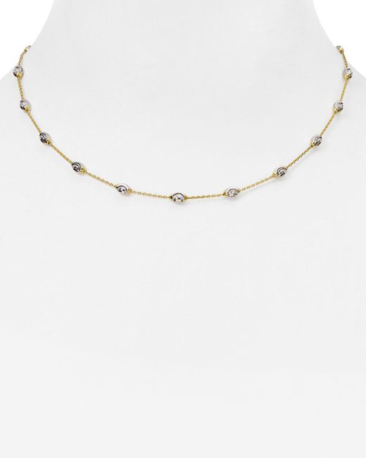 "Officina Bernardi - Metallic Beaded Necklace, 16"" - Lyst"