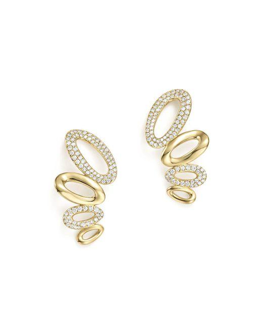 Ippolita | Metallic 18k Yellow Gold Cherish Diamond Link Ear Climbers | Lyst