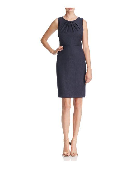 Elie Tahari   Blue Rosario Micro Plaid Sheath Dress   Lyst