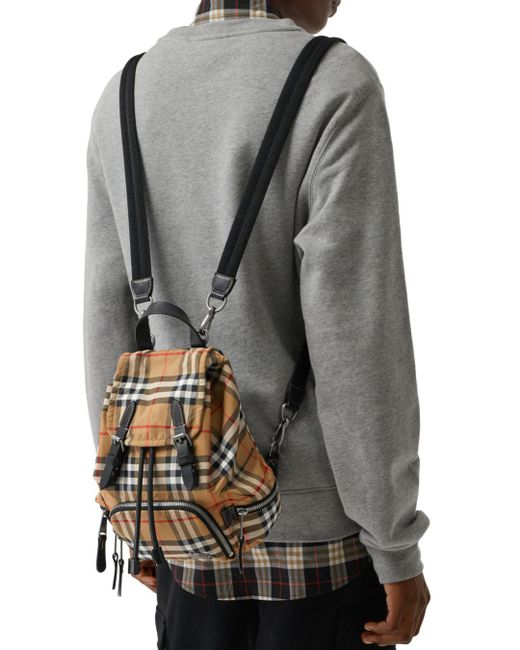 ... Burberry - Multicolor Small Vintage Check Backpack - Lyst ... f36d5bc988613