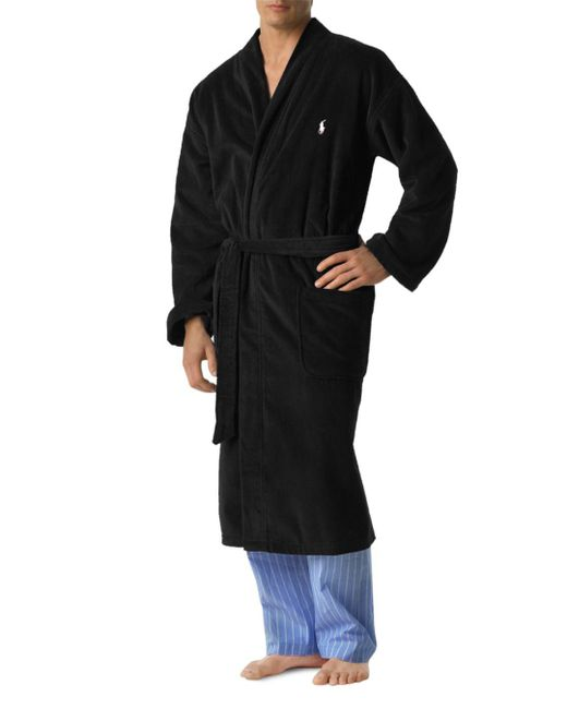 Polo Ralph Lauren - Black Ralph Lauren Kimono Robe for Men - Lyst